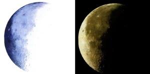 Luna (original a boli bic azul y resultado invertido)